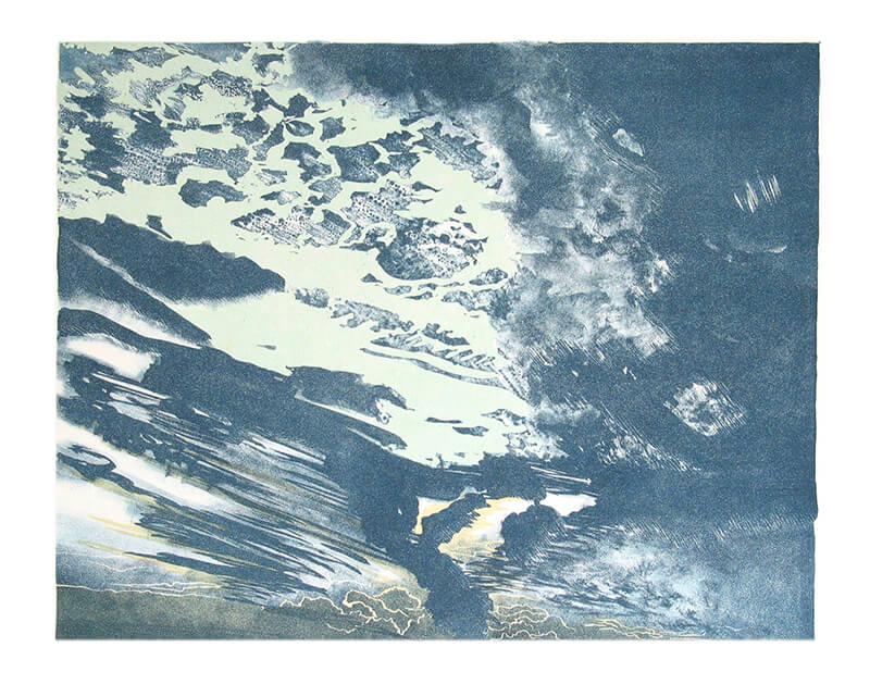 Wolkenstudie, brekende hemel, 2004