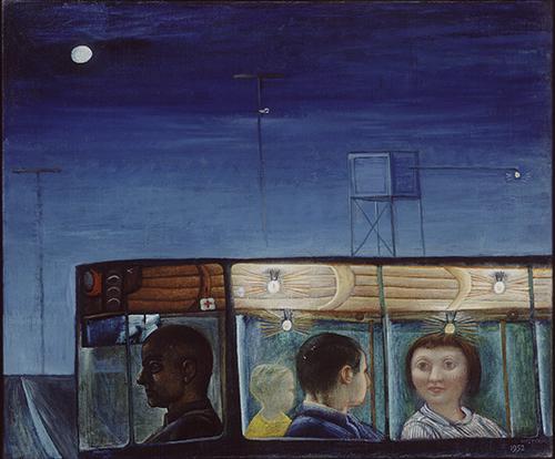 Autobus bij avond (Co Westerik, 1952 - Kunstmuseum Den Haag)