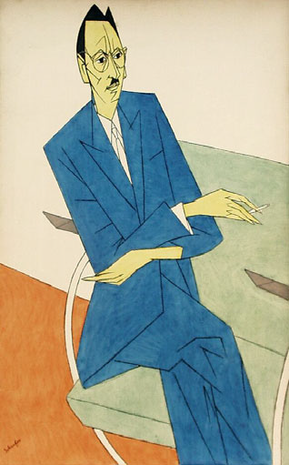 Portret van W. Jos de Gruyter (Willem Schrofer, 1948 - Kunstmuseum Den Haag)
