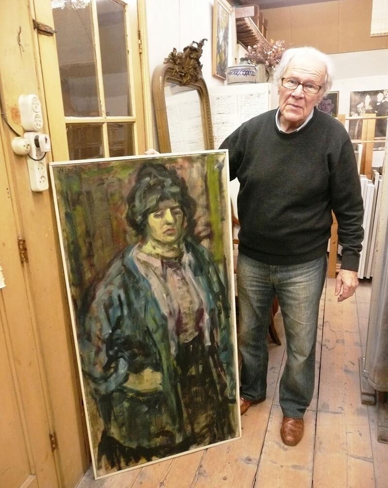 Portret van Mieke van der Burgt door Willy Rieser