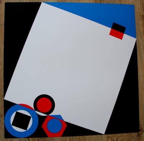 Geometrische zeefdruk (Christa van Santen, 1975)