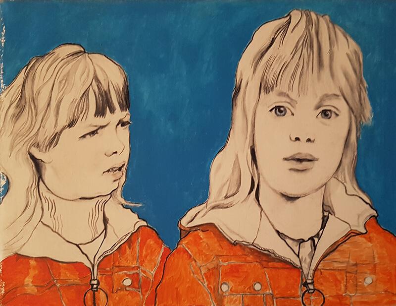 Aletta de Vries plus zusje (George Lampe)