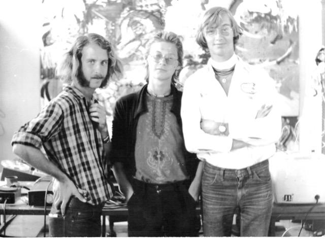 John Blaak (m) met broer Henry (r) en een (geloof ik) Amerikaanse jongen (l) - 1976