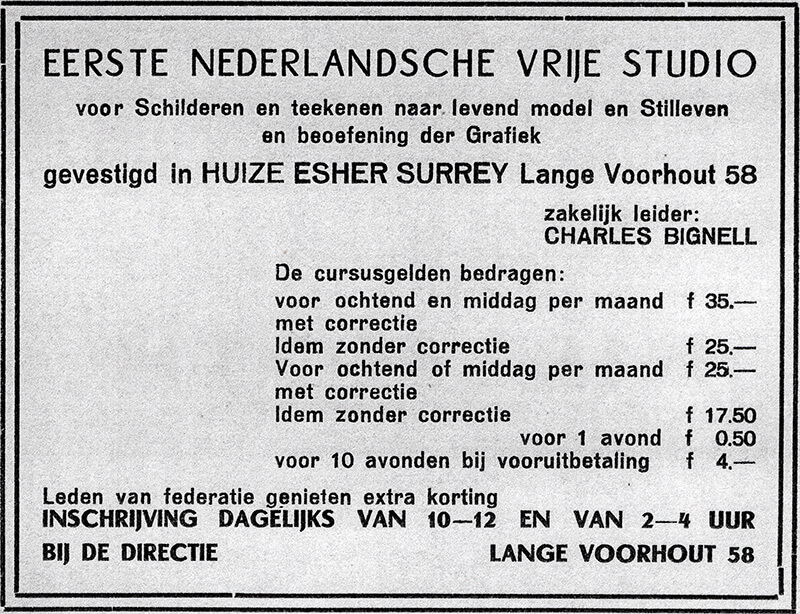 Advertentie Vrije Studio