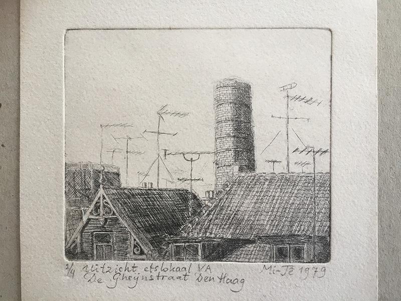 Uitzicht etslokaal Vrije Academie (Mi-Tê Goeijenbier, 1979)