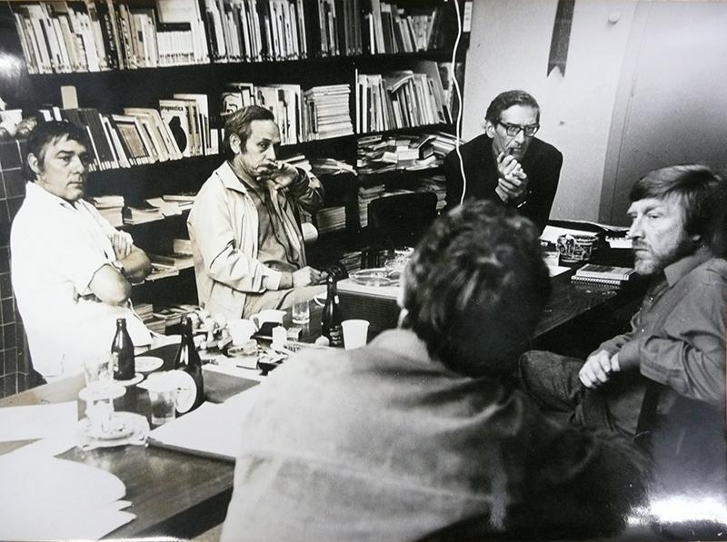 Vergadering met Nol Kroes, Rudi Rooijackers, Wil Bouthoorn en George Lampe - 1969