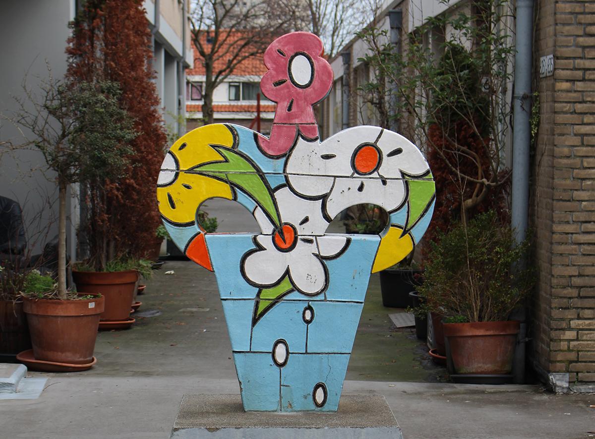 Bloemplastiek (Marijke van Os, Hekkelaan Den Haag, 1988)