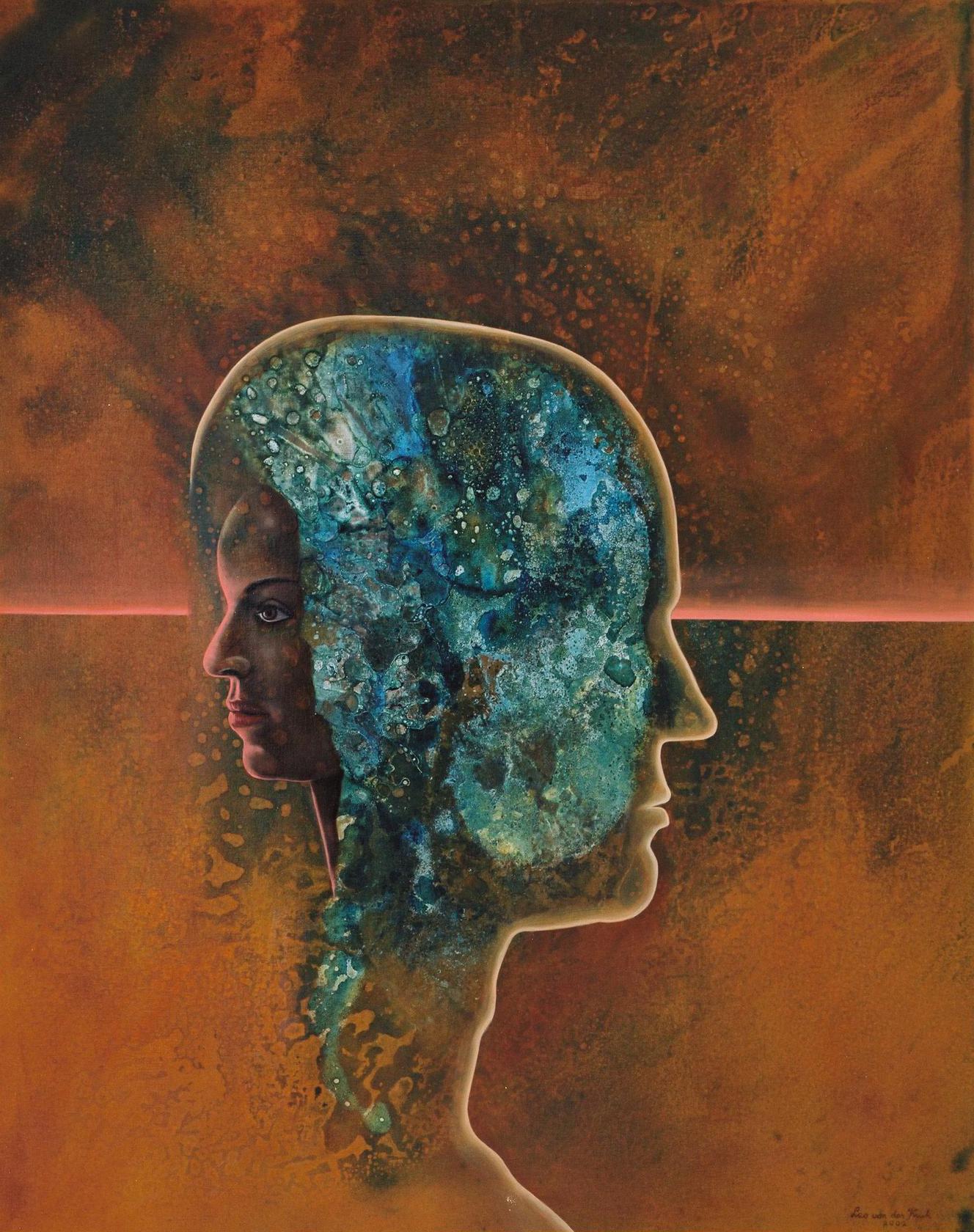 It's all in the mind (Leo van der Kruk, 2002, linnen 80x100 cm)