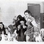 Jan Snoeck met zijn groep, jaren '70