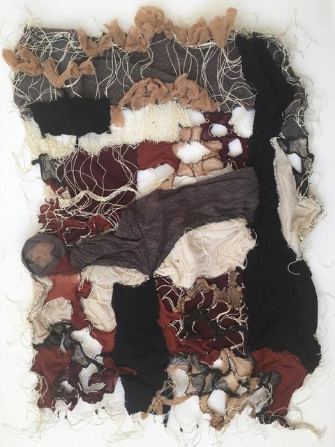 Weefsel van gevonden textiel (Christina Coridou, 1972)