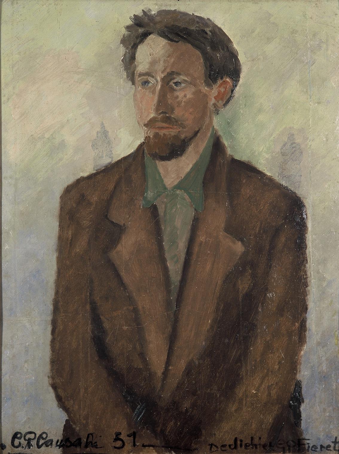 De dichter Gerard Fieret (C.P. Causali, 1951 - Collectie Literatuurmuseum Den Haag)