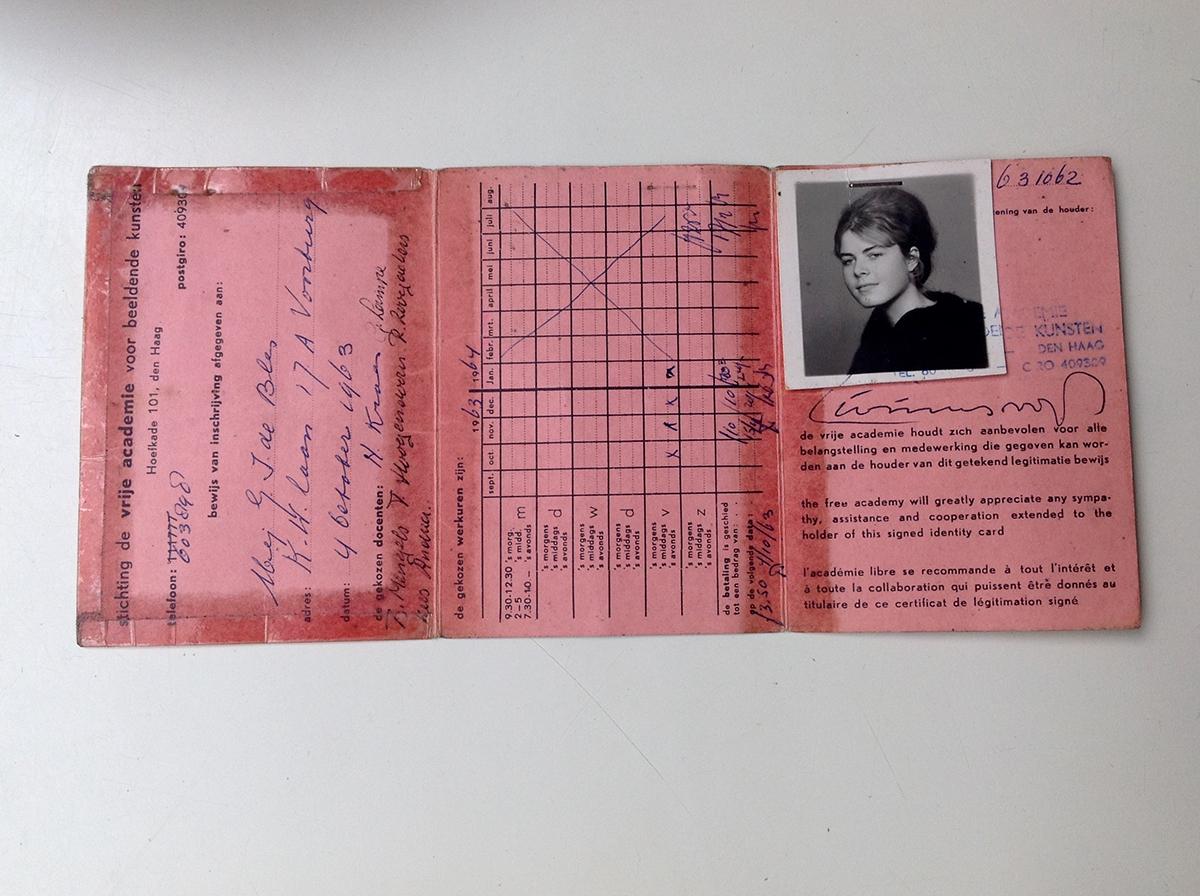 Inschrijvingskaart Vrije Academie van Gonda de Bles