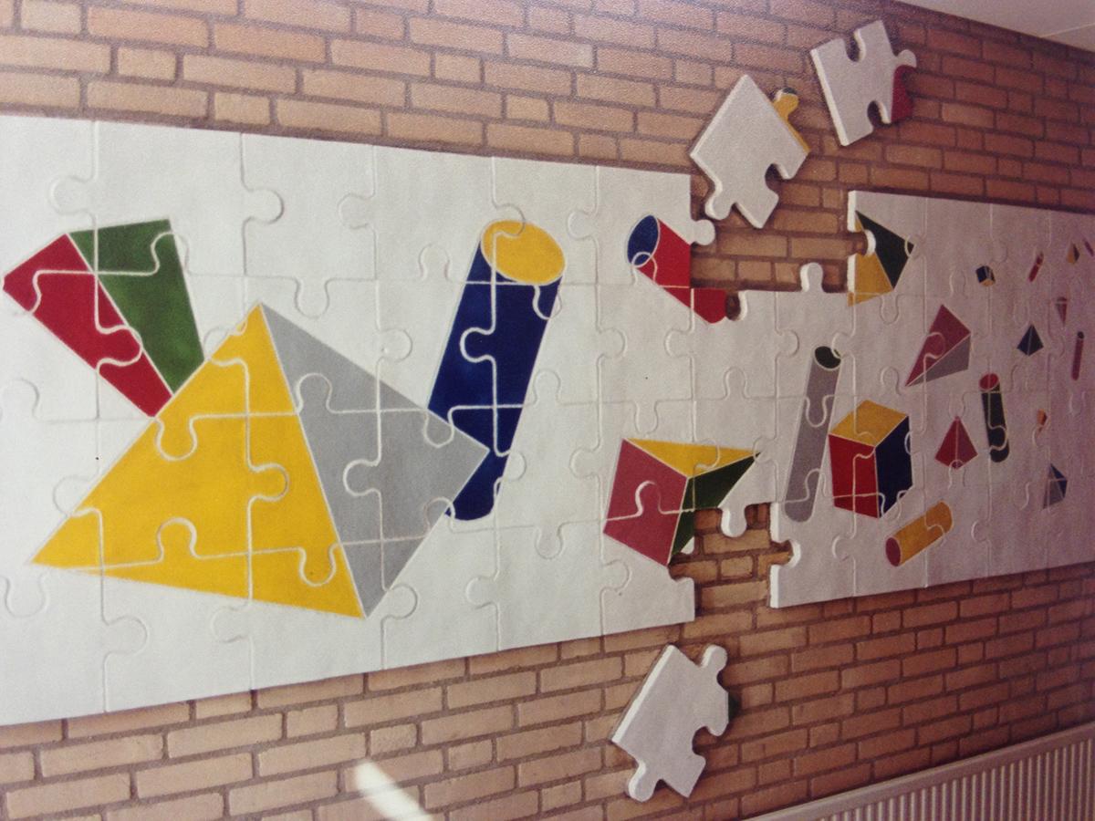 Reliëf in Mozartschool (Jozef van der Horst)