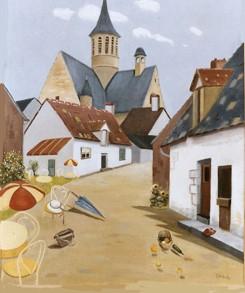 Dorpje in Frankrijk (Wil Edelenbos)